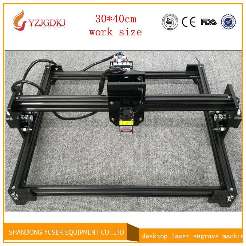 2017 new laser engraving machine 5500mw laser engraving machine working area 30 * 40cm laser cutting machine laser engraver