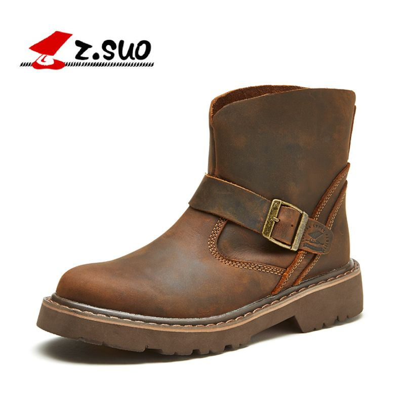 Z. Suo women 's boots, leather boots, both women and women in western ancient looping buckles canister boots woman, zs1308