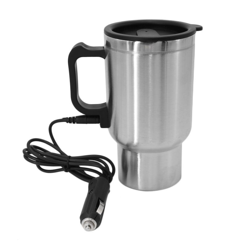 Auto Car Heating Cup Stainless Steel Coffee Tea Water Heater Cigarette Lighter Adapter Car heated travel Mug