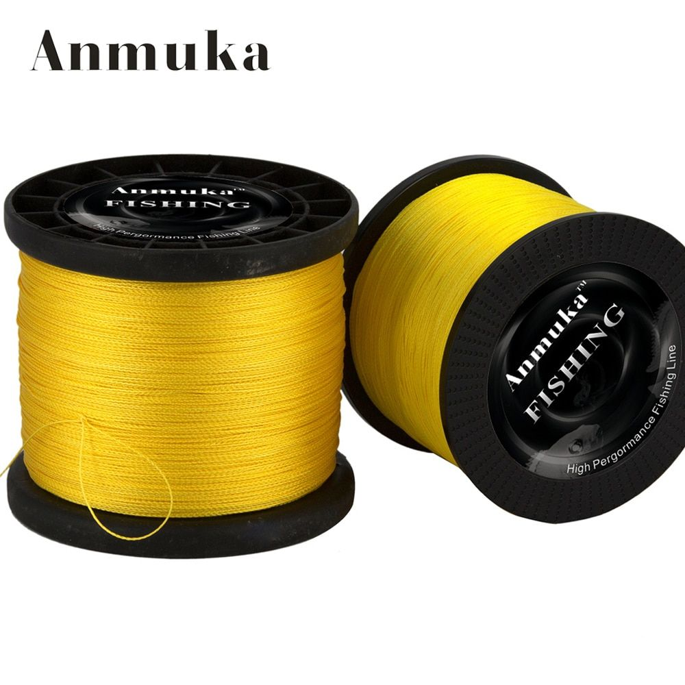 Anmuka 2000m 4 Strands Braid Line Green 100% PE Multifilament Saltwater Fishing Super Strong Carp Braided Fishing Gear