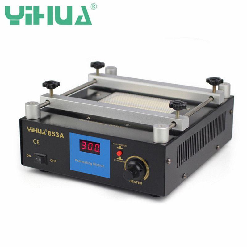 YIHUA 853A 110V/220V Digital Preheat Soldering Station High Power ESD BGA Rework Station PCB Desoldering IR Preheating