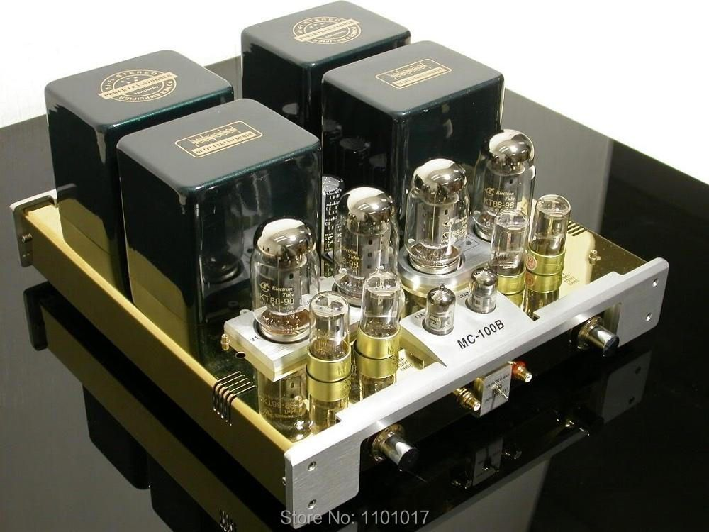 Best YaQin MC-100B KT88 Push-Pull tube amplifier HIFI EXQUIS 6SN7 12ax7 Lamp AMP MS100B