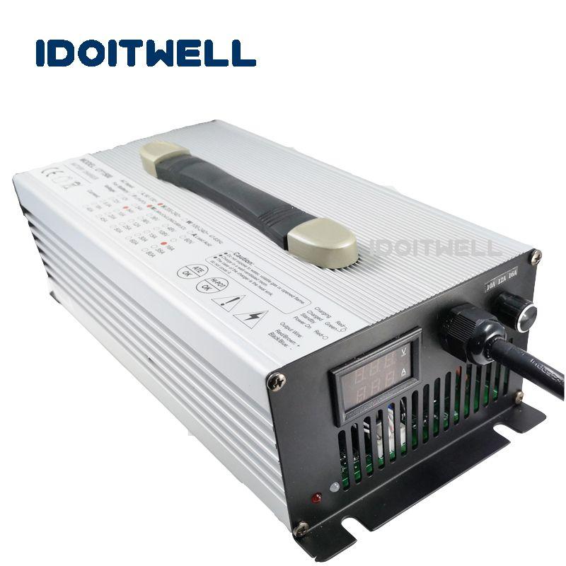 Angepasst 1200 watt einstellbare strom Batterie Ladegerät 48 v 19A/16A/12A 36 v 20A/15A/ 10A für blei säure lithium lifepo4 batterie pack