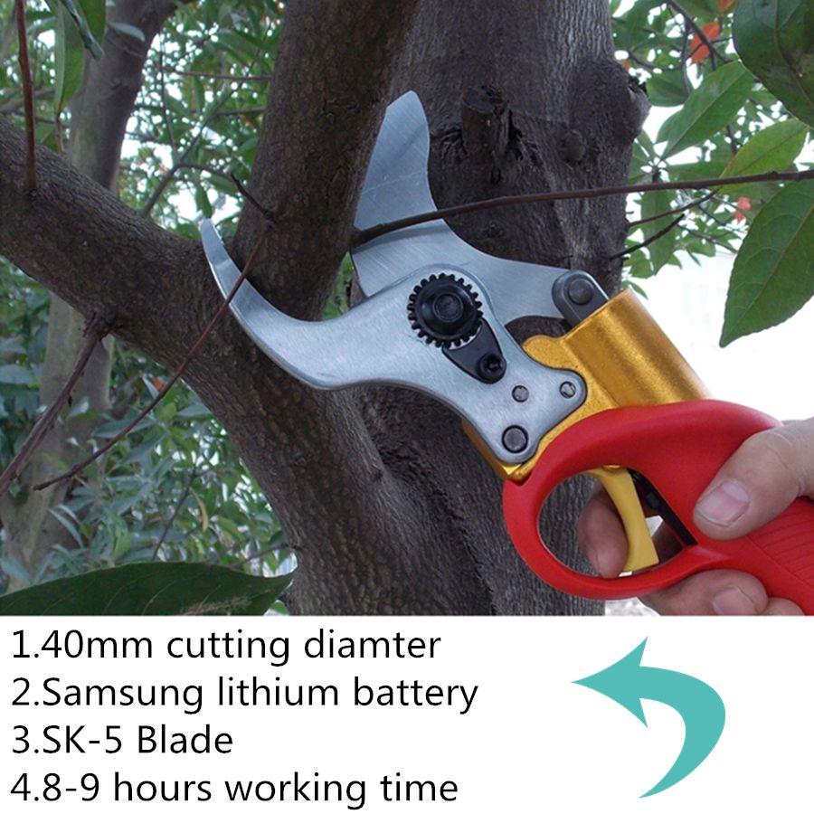 40mm cutting diameter electric pruner free shipping,electric pruning shear for vineyard,kiwi,orchard tree