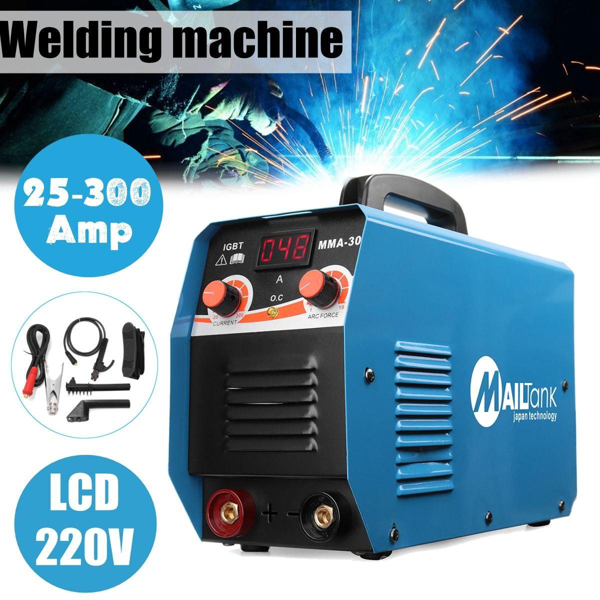 Tragbare MMA-300G Mini Schweißen DC Schweißen Maschine 220 v 25A-300A Halbautomatische Inverter LCD Löten Werkzeug Schweiß Arbeits