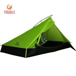 20D Satu Lapisan 2 Pria Dua Orang Backpacking Tenda 3 Musim untuk Camping Hiking Trekking Saran dan Fakta Ultra Ringan Ringan Silikon Dilapisi