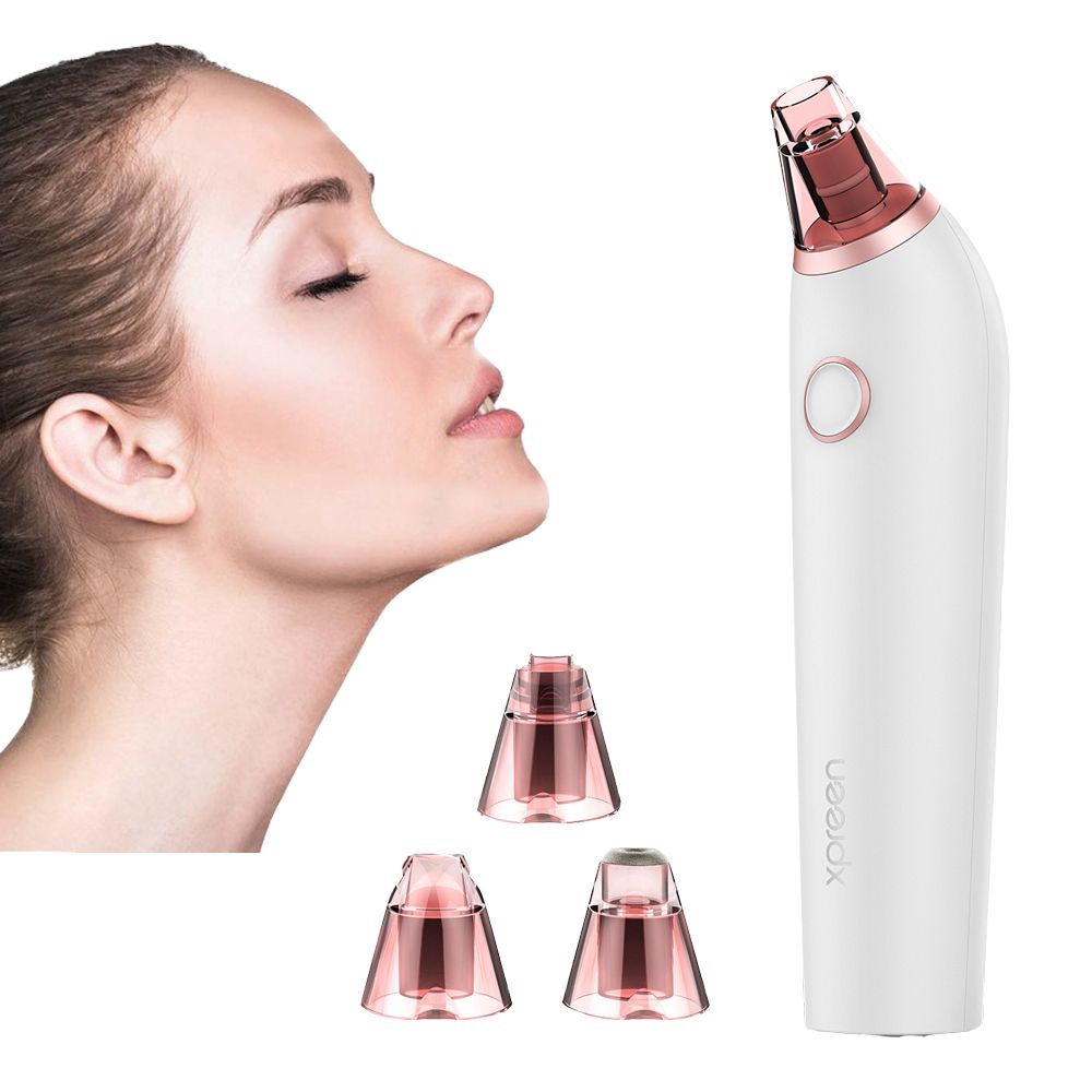 XPREEN Electric Blackhead Remover Suction Pore Vacuum Cleaner Facial Blackhead Removal Tool Comedo Remover Blackhead Extractor