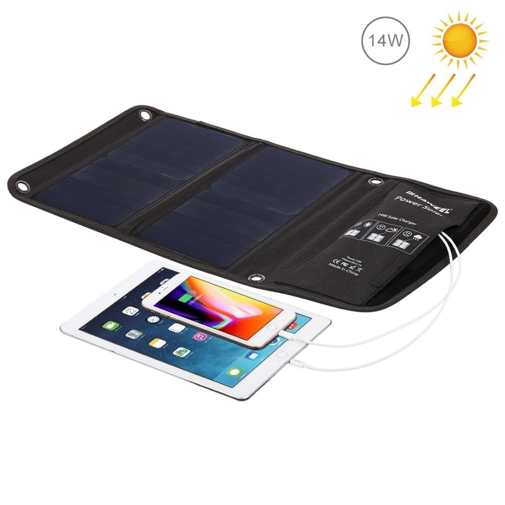 HAWEEL 14W 21W 28W Portable Solar Charger for Mobile Phone Camping Travel Foldable Solar Panel Charger with Dual USB Ports