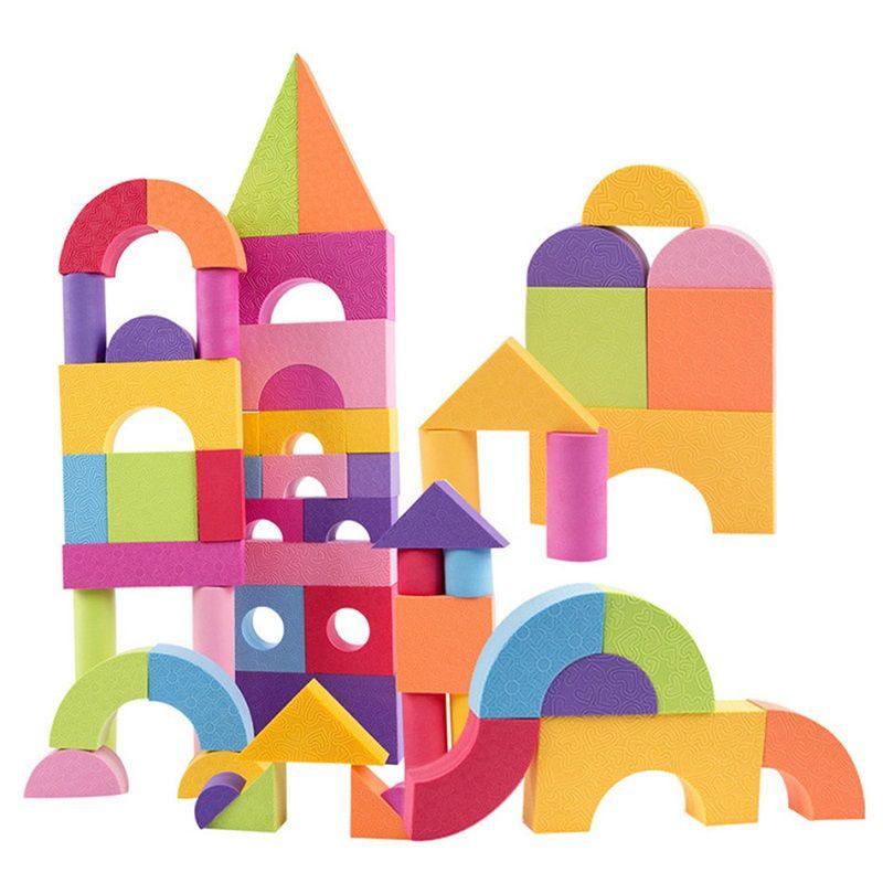 SUKIToy Montessori de Kid Doux EVA Jouets Block Set 50 pcs pour enfants garçons filles Éducatifs juguetes brinquedos nouvelle année cadeau