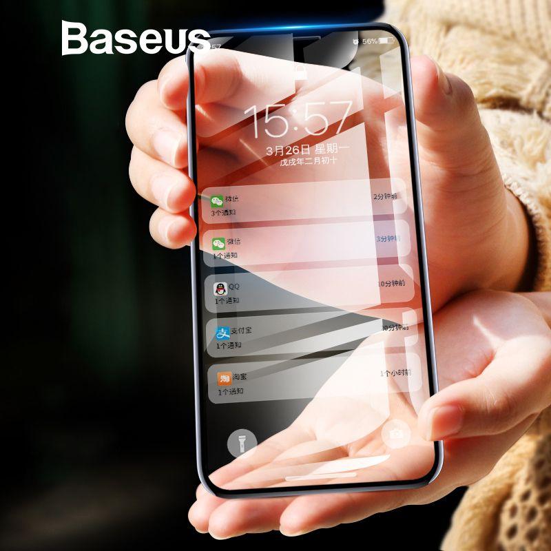 Baseus 0,2mm Ultra Dünne 3D Oberfläche Full Screen Protector Für iPhone X Glas Dünne Front Schutz Gehärtetem Glas Für iPhone X