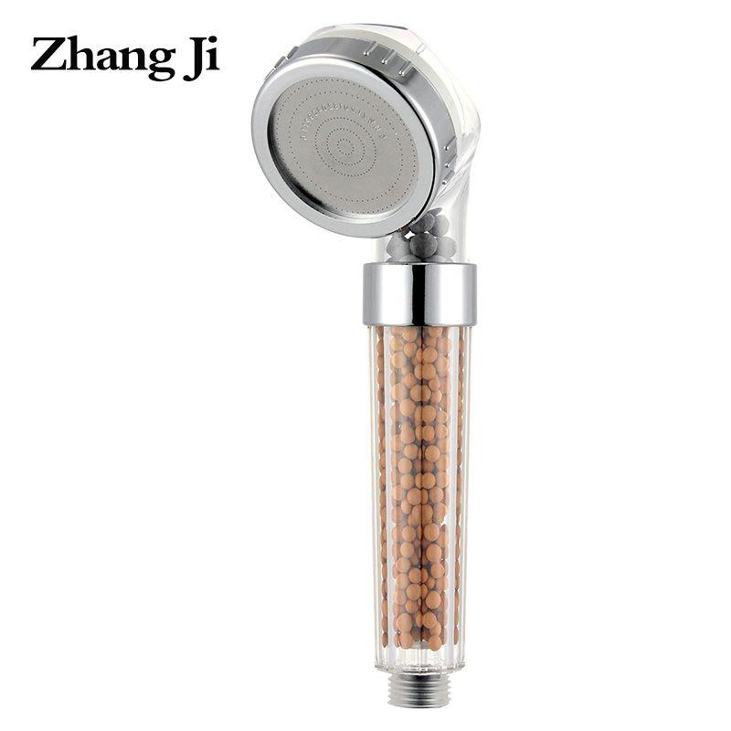 Kunststoff hochdruck spa dusche filter edelstahl panel runde handheld duschköpfe 30% wasserspar badezimmer dusche ZJ005