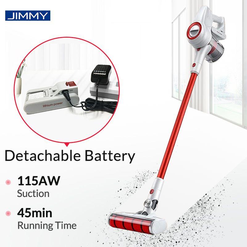 JIMMY JV51 aspirateur à main sans fil pour la maison Portable sans fil 115AW tapis d'aspiration balayage propre dépoussiéreur