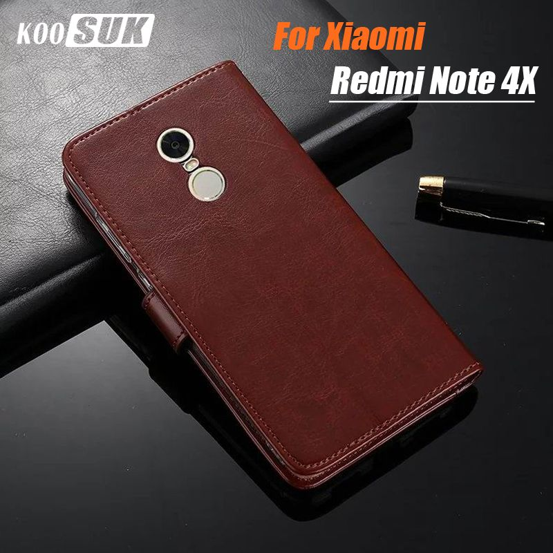 Xiaomi Redmi note 4X case leather Crazy horse flip leather phone case for Xiaomi Redmi 4x cover Xiaomi Redmi note 4 pro case