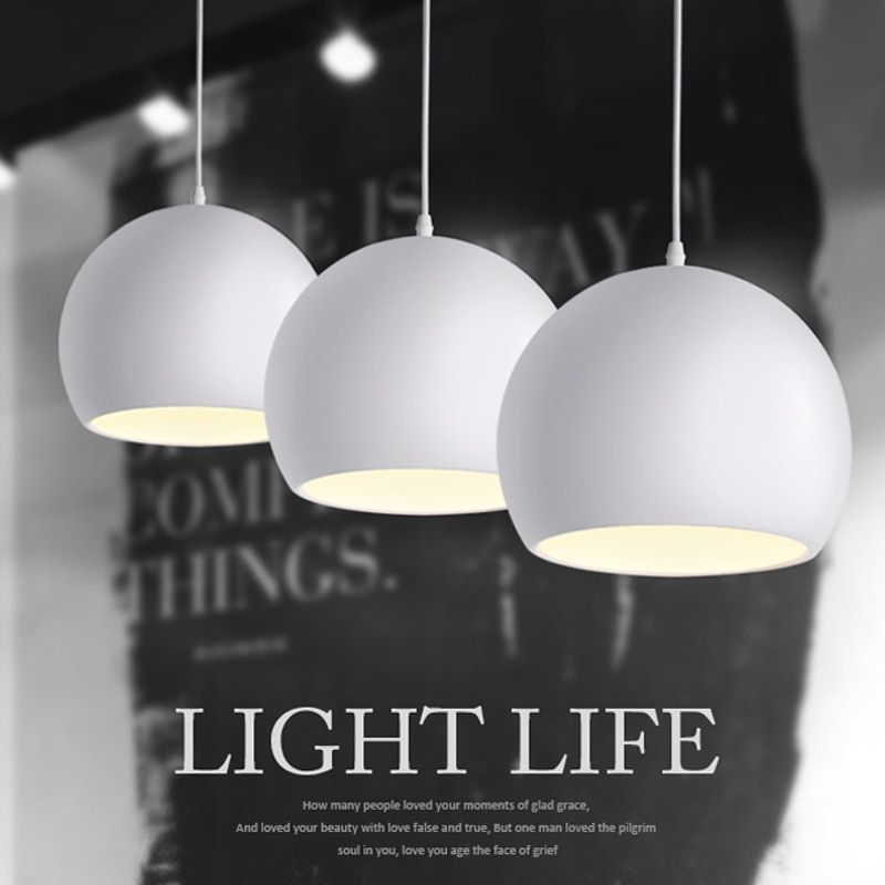 Modern fashion Black & White E27 Pendant lamps for creative Nordic Restaurant/Bedroom Pendant lights AC 90~260V