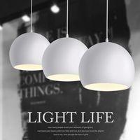 Moda moderna blanco y negro E27 colgante lámparas para creativa nórdica restaurante/dormitorio colgante luces AC 90 ~ 260 V