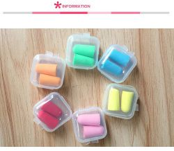 5Pairs comfort earplugs noise reduction Foam Soft Ear Plugs box-packed Earplugs Protective for sleep slow rebound earplugs