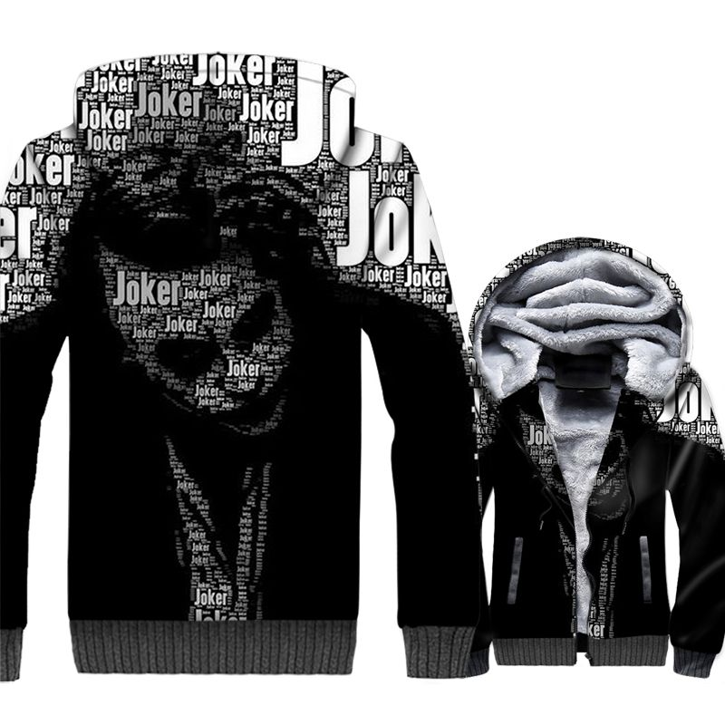 New Arrival Men's Sweatshirts 2018 Autumn Winter Jackets 3D Pattern Batman The Dark Knight Harajuku Hoodies For Men Joker Hoody