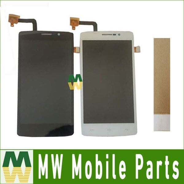 1PC /Lot High Quality For Fly IQ4504 EVO Energy 5 LCD Display+Touch Screen Digitizer Assembly Black White Color With Tools