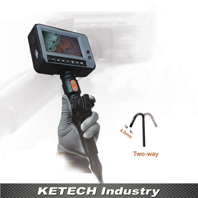DR4540T1 OD 4,0mm 2 Way Richtung Inspektion Endoskop Kamera 4,3 ''LCD Wasserdichte Industrie Rohr Video Endoskop 1,5 mt kabel USB
