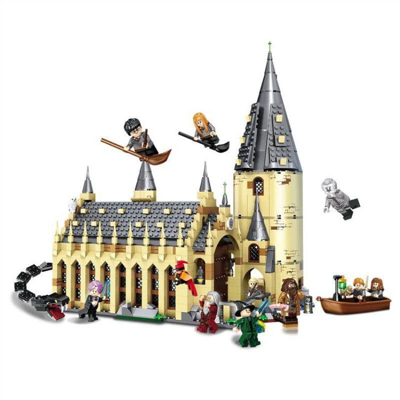926PCS Harri Movie Potter Sets 16052 Compatible With  Model Building Kits Castle Hall Blocks Toys 75954 JP39144