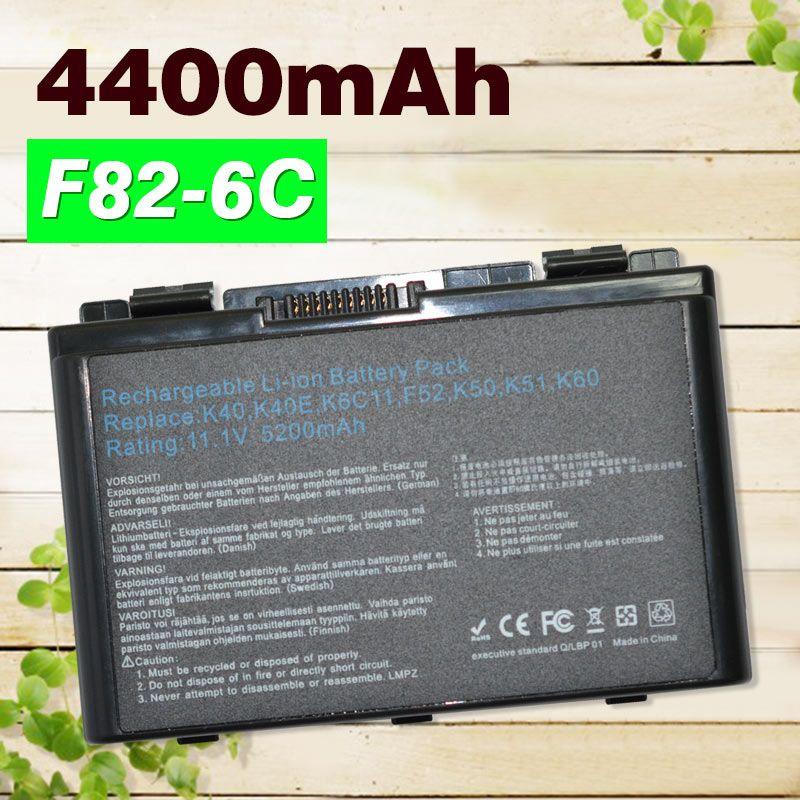 <font><b>4400mAh</b></font> laptop Battery For Asus A32-F52 A32-F82 A32 F82 K40 K40in K50 K50in k50ij K50ab K51 K60 K61 K70 P81 X5A X5E X70 X8A