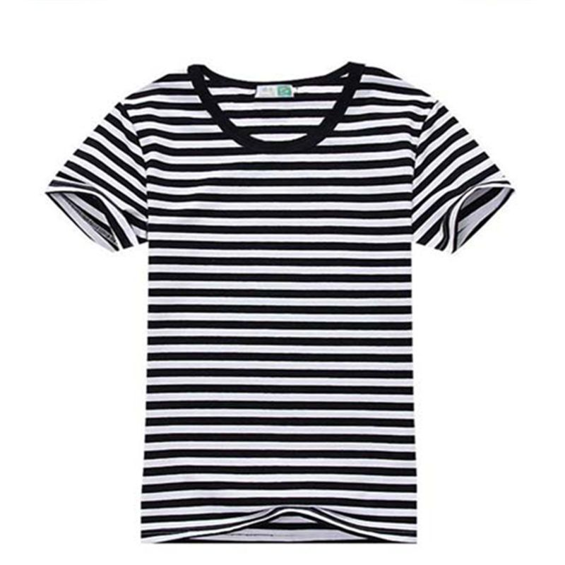 Promotional shirts, stripes T-shirts, men's short sleeves, pure cotton, round neck, Navy wind <font><b>lovers</b></font>, big yards, comfortable men