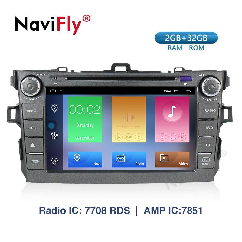 Navifly 8 zoll Auto Display Für Toyota corolla 2007-2011 Auto CD DVD USB SD spielen unterstützung DVR hinten ansicht kamera RDS