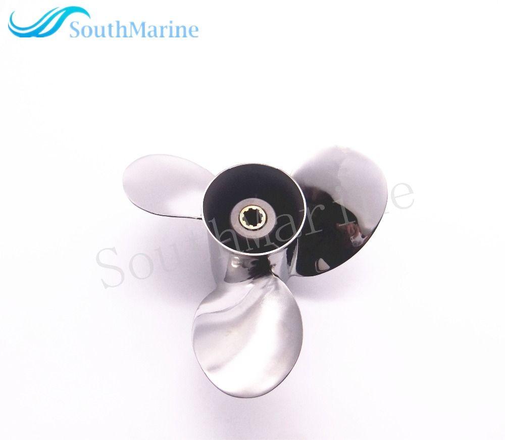 Boat Motor Stainless Steel Propeller 9 1/4x11-J for Yamaha 9.9HP 15HP Outboard Engine 9 1/4 x 11 -J 63V-45943-10-00 63V-45943-00