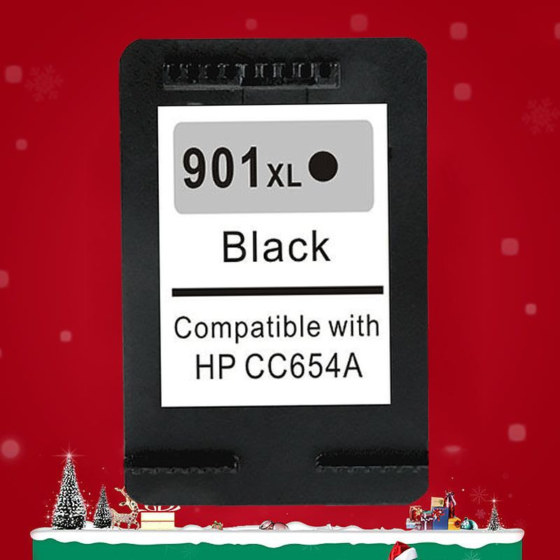 Free Shipping 2016 New [Hisaint] For HP 901 901XL Black Refilled Ink Cartridge Officejet 4500 J4524 J4525