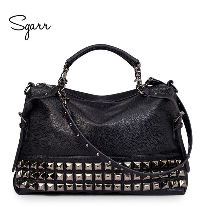 SGARR LUXURY Leather Women Shoulder Bag Brand Designer leather handbags Skin Crossbody bag Famous Big Female Tote Messenger Bags