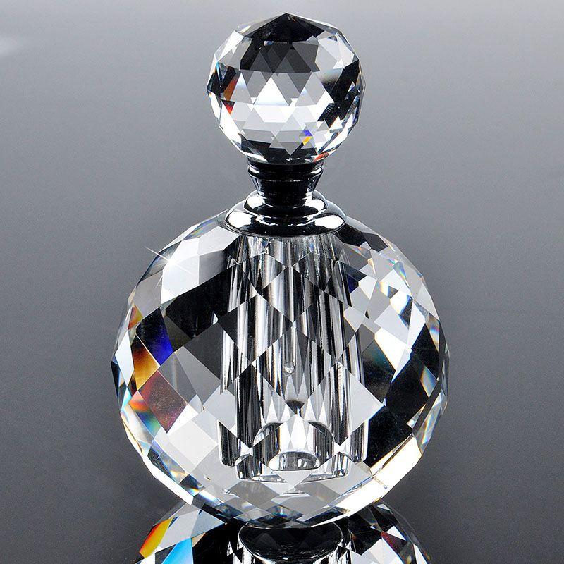 2016 10 ml clair rond de luxe rechargeable Parfum femmes bouteilles de Parfum vide conteneur Vintage K9 cristal coupe verre en gros