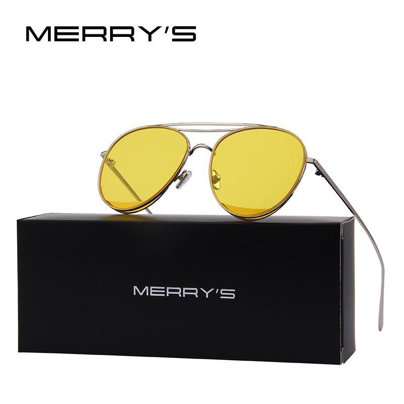 MERRY'S 2017 New Arrival Retro Women Classic Brand Designer Rimless Sunglasses Twin <font><b>Beam</b></font> Metal Frame Sun Glasses S'8095