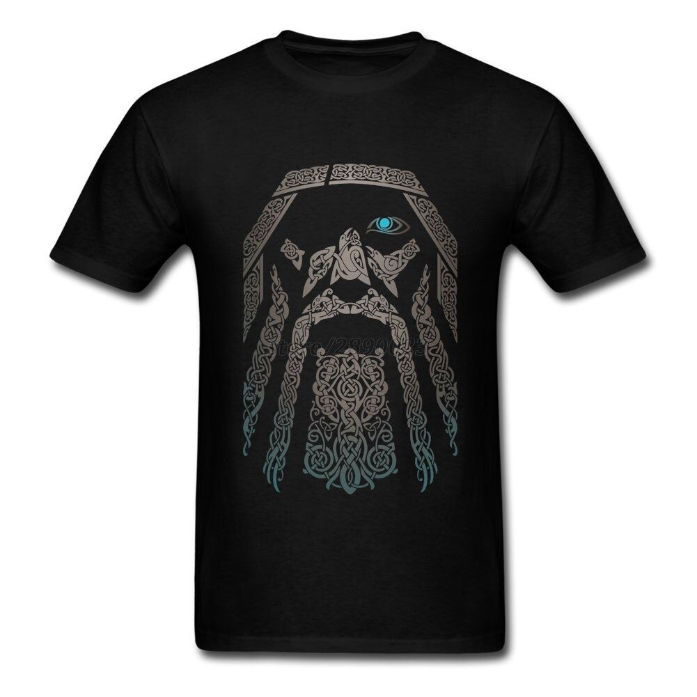 T-shirt personnalisé Odin Vikings hommes manches courtes t-shirt en coton à col rond vêtements uniques cadeaux de la fête des pères
