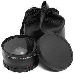 58mm 0.45x lente gran angular + lente macro para Canon 5D/60D/70D/350D/400D /450D/500D/1000D/550D/600D/1100D 18-55mm lente