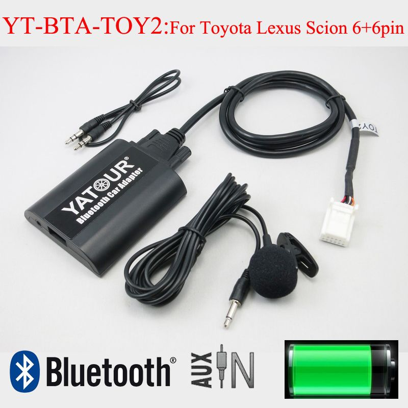 Yatour car audio Bluetooth AUX mp3 interfaces for Lexus Toyota Camry Corolla Highlander RAV4 Vitz Avensis