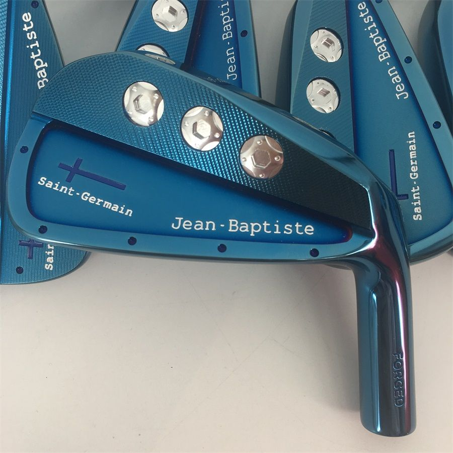 Playwell 2018 Jean Baptiste Saint Germain cavity blue color golf iron head forged carbon steel CNC iron wood iron