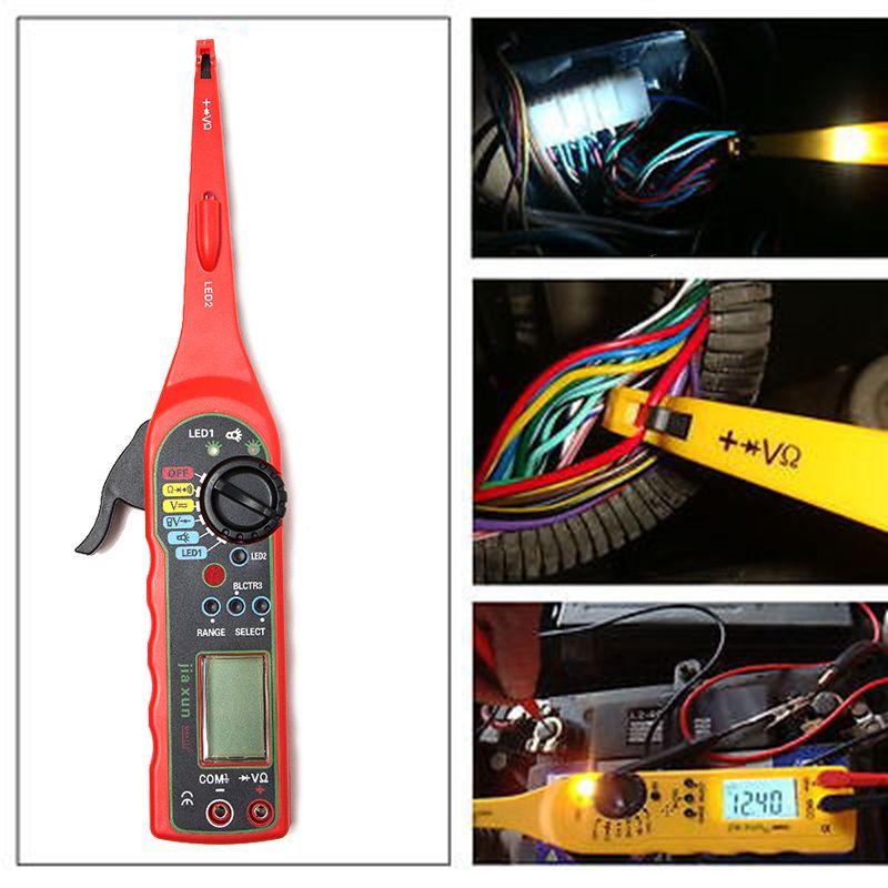 KWOKKER nouveau multi-fonction Auto testeur de Circuit multimètre lampe voiture réparation automobile électrique multimètre voiture outil de Diagnostic
