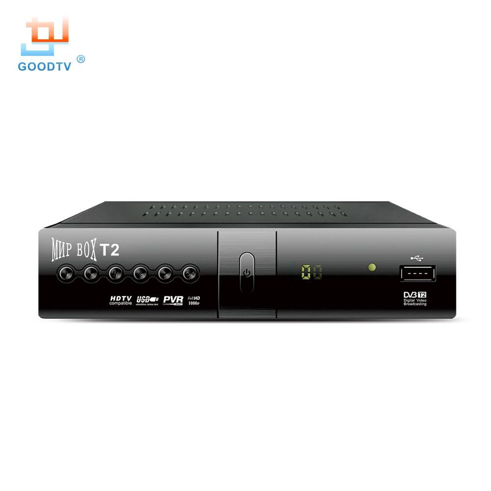 Bonne qualité Mini DVB-T2 récepteur de télévision H.264 1080P HD MNP boîte Ali 3821/Novatek 78306 MPEG-4 affichage de LED