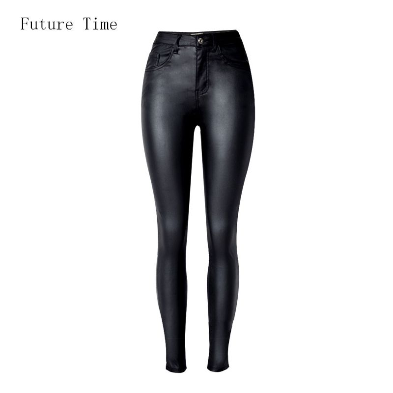2017 Fashion Women Jeans,fitting High Waist slim Skinny woman Jeans,Faux leather jeans,stretch Female jeans,pencil pants C1075