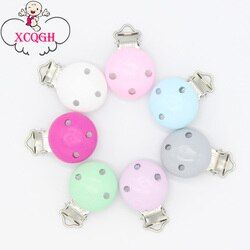 XCQGH Pacifier Clip Baby Wooden Teether teething Accessories DIY Bead Tool Clip Nipple Clasps Baby Clasps Holder 2/5PCS