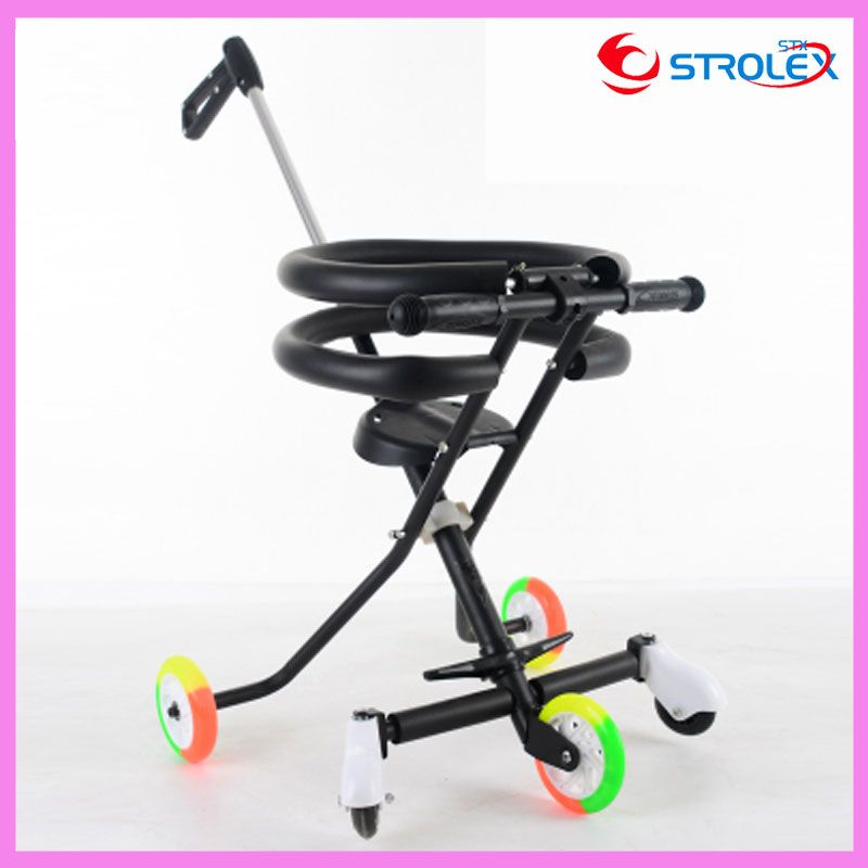 Baby Tricycle Bicycle Three Flash Wheels Travel Trolley Sunshade Tricycle Stroller Lightweight 3 In 1 Pram Portable Pushchair