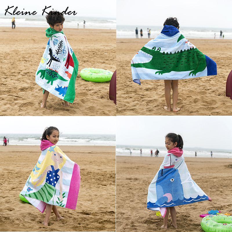 Strand Pool Kinder Bademantel für Mädchen Jungen Schnell trockenen handtuch weiche baumwolle handtuch cartoon shark kinder bad handtuch baby schwimmen handtücher