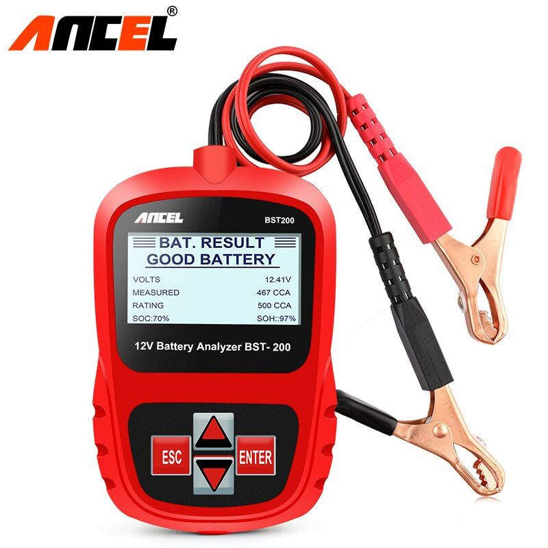 ANCEL Bst200 Car Battery Tester Multi-language 12V 1100CCA Battery System Detect Automotive Car Bad Cell Battery Diagnostic Tool