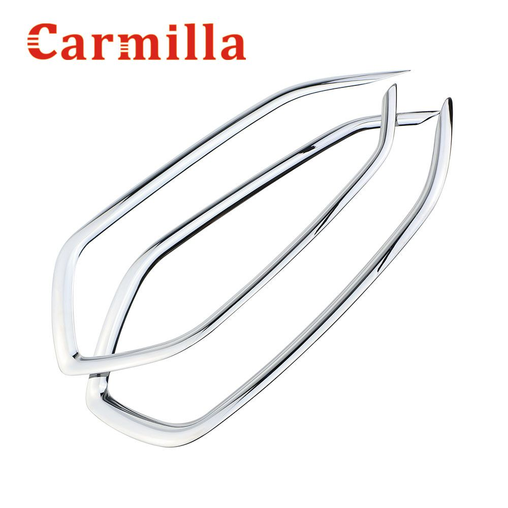 Carmilla Car ABS Chrome Front & Rear Fog Lamp Cover Sticker For Hyundai Tucson 2015 2016 Accessories