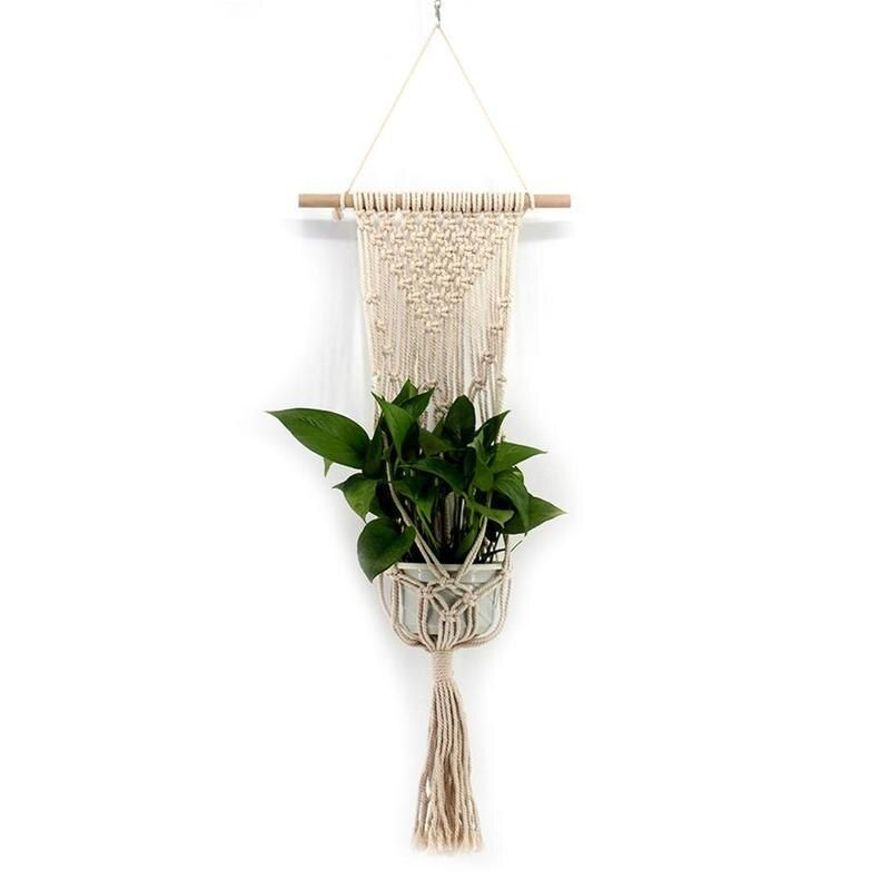 New Tassel Bohemian Macrame Woven Wall Hanging Handmade Knitting Tapestry Home Office Wall Decoration VQW2701