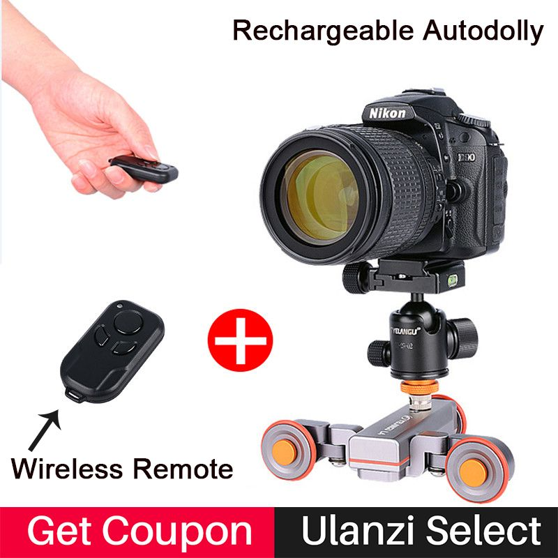 <font><b>Motorized</b></font> Electric Autodolly Car Wireless Remote Control Video Track Rail Slider Skater Dolly for iPhone X Canon Sony Nikon SLR