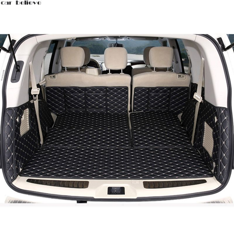 Car Believe car trunk mat For nissan patrol y62 2014 2016 Cargo Liner Interior Accessories Carpet car styling