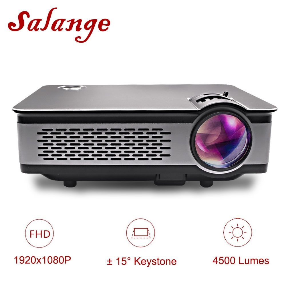 Salange T24 Projector Full HD 1080P,3600 Lumens LED Projector,Home Theater,HDMI VGA USB,1920x1080 Movie Beamer Proyector