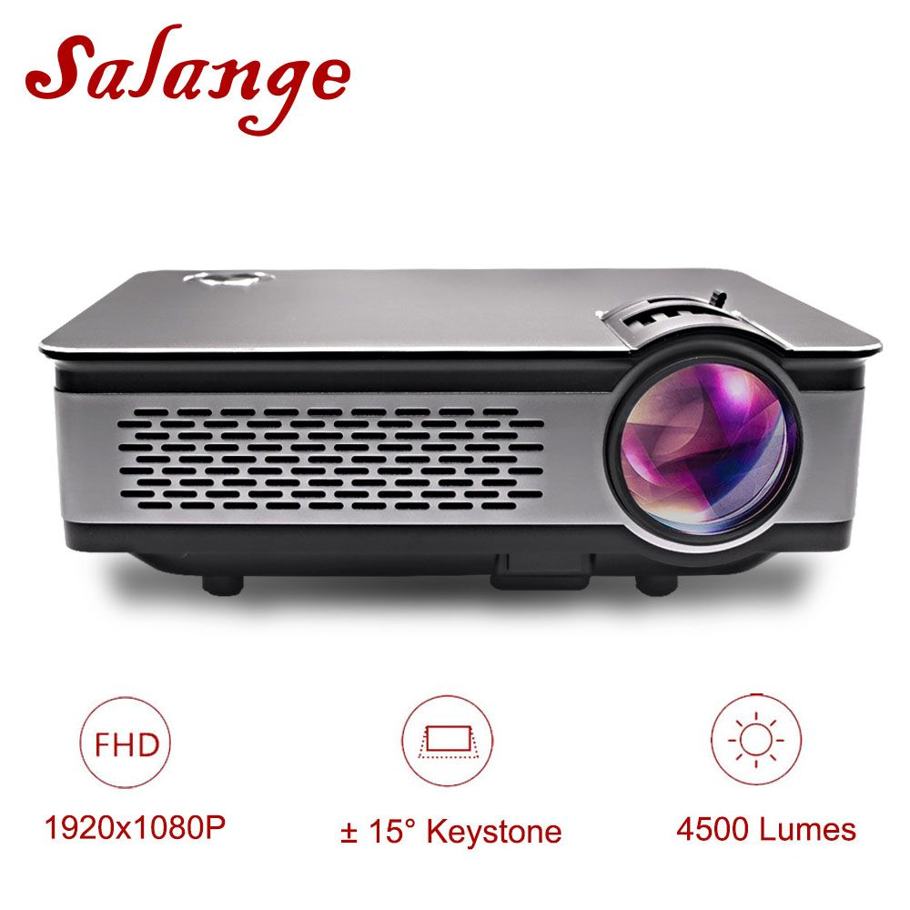 Salange T24 Projector Full HD 1080P,4500 Lumens LED Projector,Home Theater,HDMI VGA USB,1920x1080 Movie Beamer Proyector