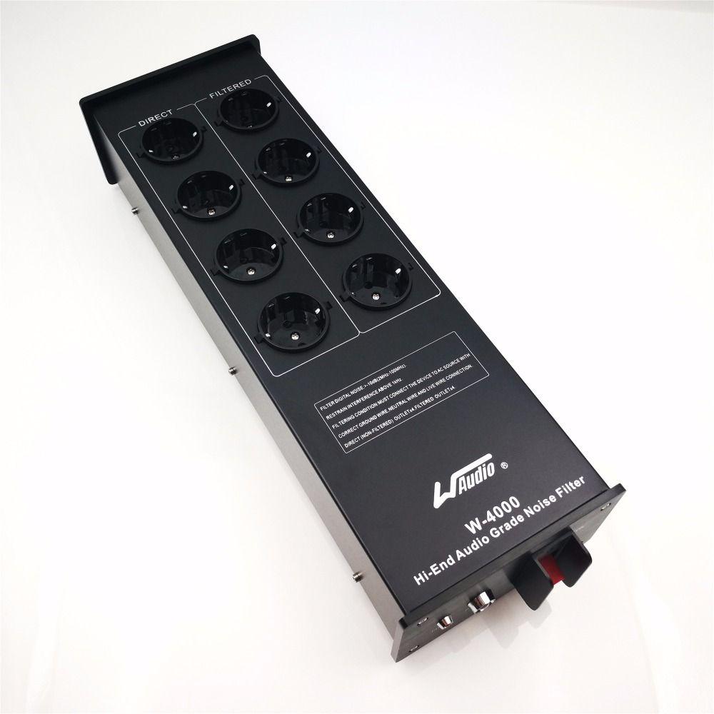 WAudio W-4000 Haut de Gamme Audio Bruit Filtre, AC Power Conditioner, puissance Filtre, puissance Purificateur avec L'UE Sorties